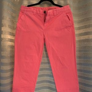 Pink Straight Leg Khaki Pants